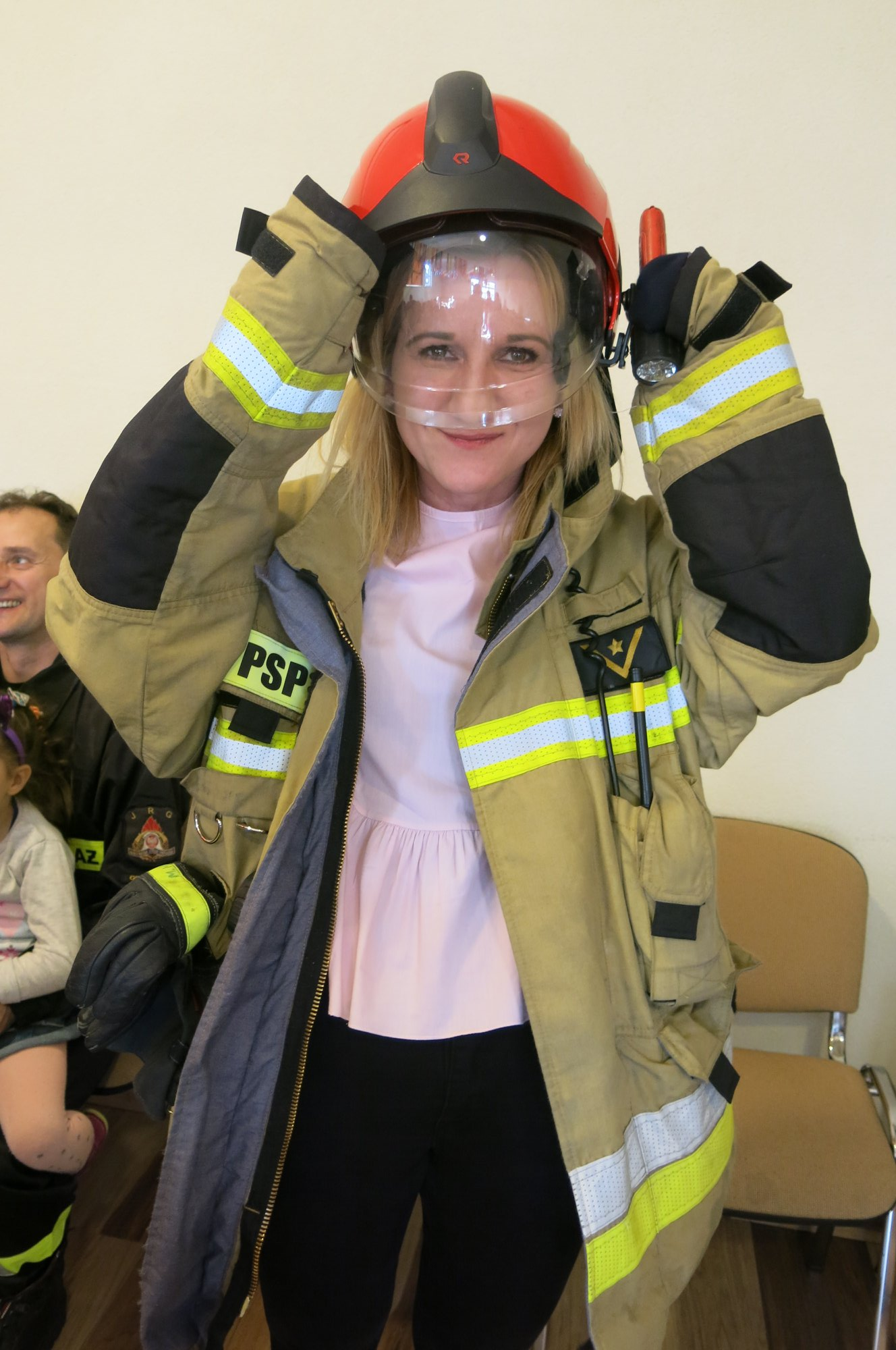 Sprawozdanie  wizyty strażaków z Państwowej Straży Pożarnej z Grajewa