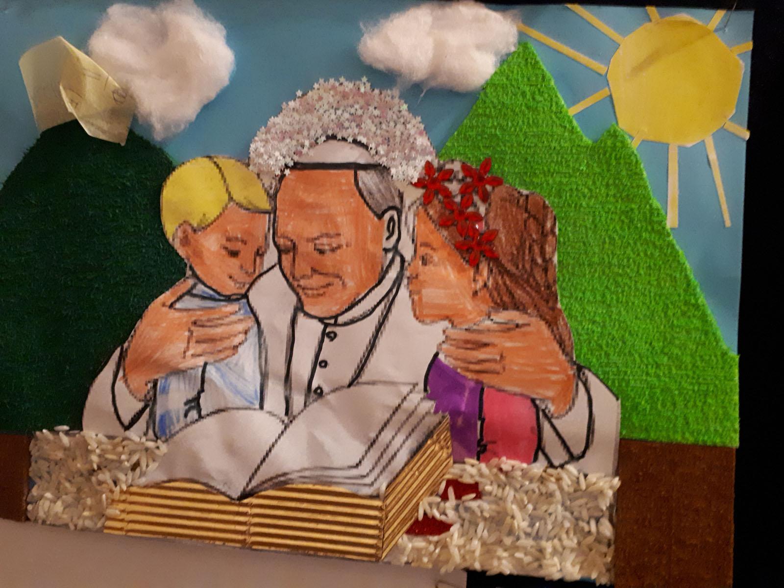"""Rozstrzygnięcie konkursu plastycznego pt.: """"Święty Jan Paweł II i dzieci"""""""